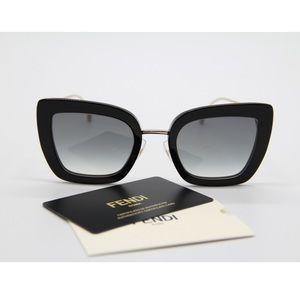 NEW FENDI FF0408/S 807 Black Woman's Sunglasses